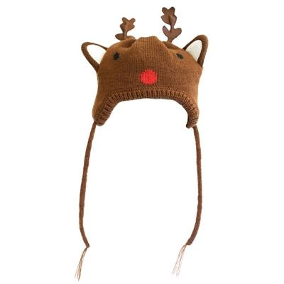 Reindeer Wool Beanie Dog Hat Pet Accessories Worthy Dog