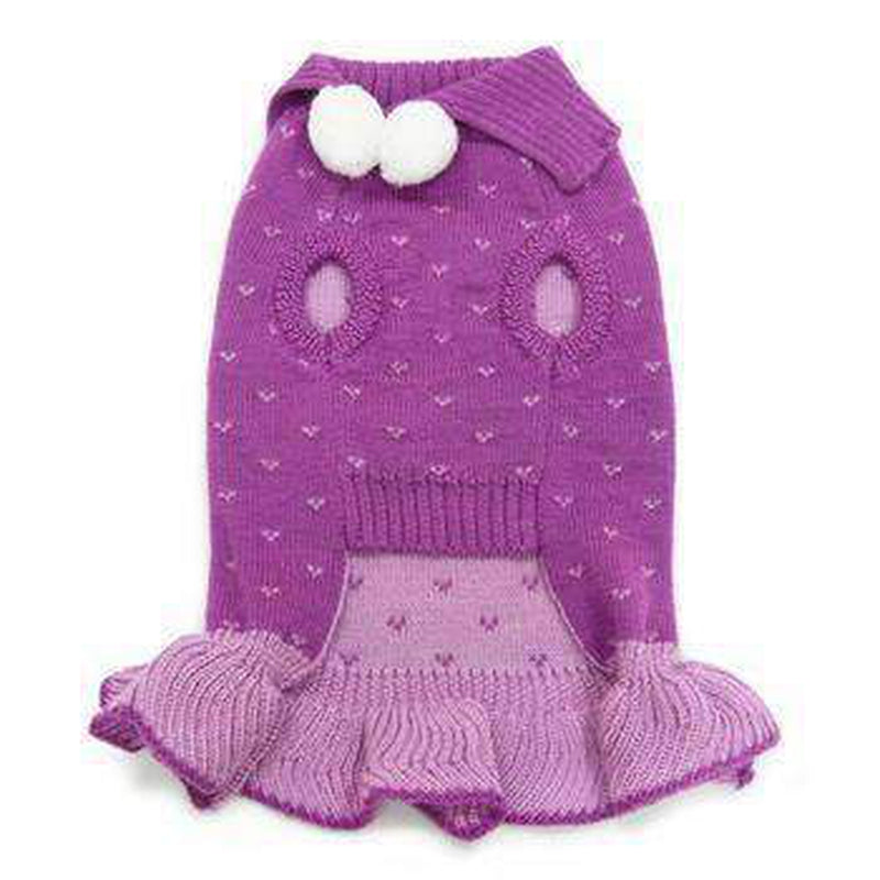 Rhinestone Snowflake Dog Sweater Dress, Pet Clothes, Furbabeez, [tag]