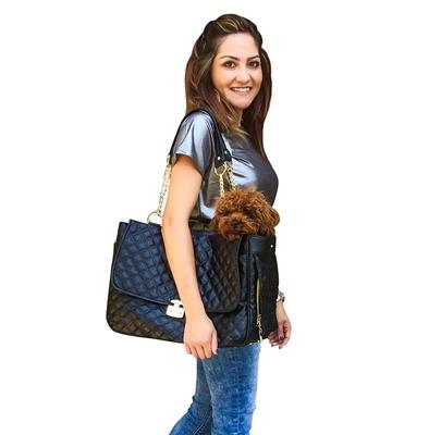 Rodeo Signature Quilted Travel Bag in Classic Black Pet Accessories Dog Squad