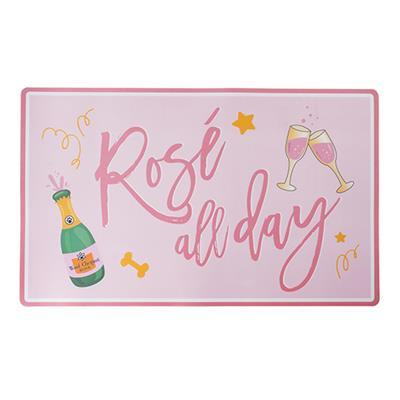 Rose' All Day Dog Placemat Pet Bowls Haute Diggity Dog