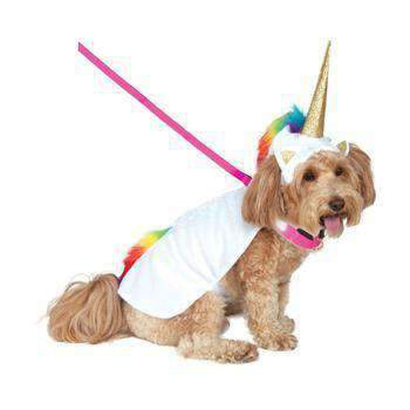 Rubies Light Up Collar Unicorn Pet Costume, Pet Clothes, Furbabeez, [tag]