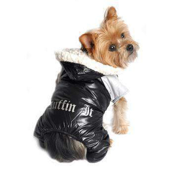 Ruffin It Snowsuit - Black and Gray Pet Clothes Doggie Design