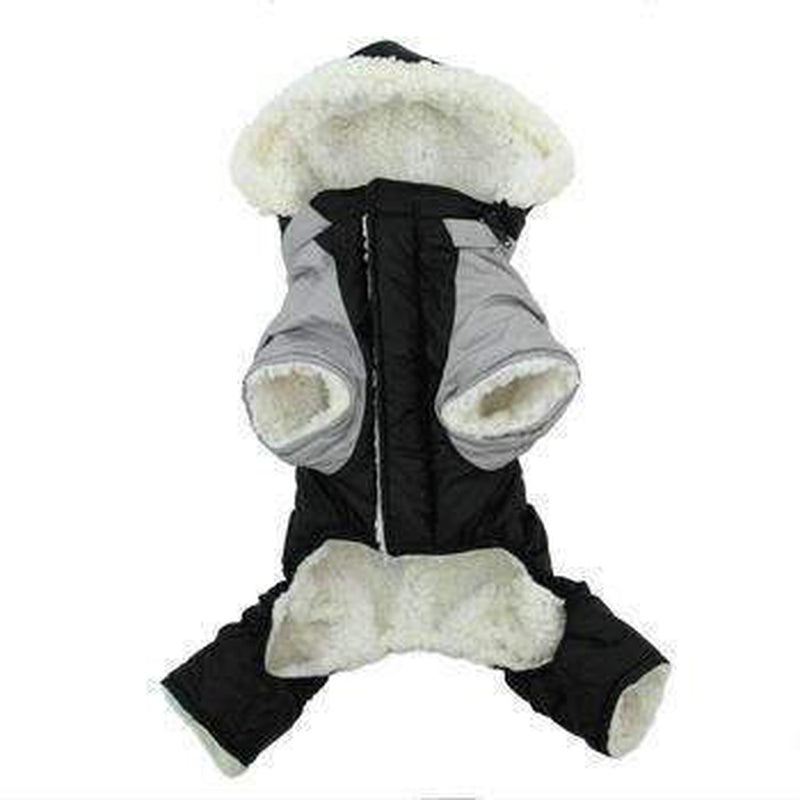 Ruffin It Snowsuit - Black and Gray, Pet Clothes, Furbabeez, [tag]