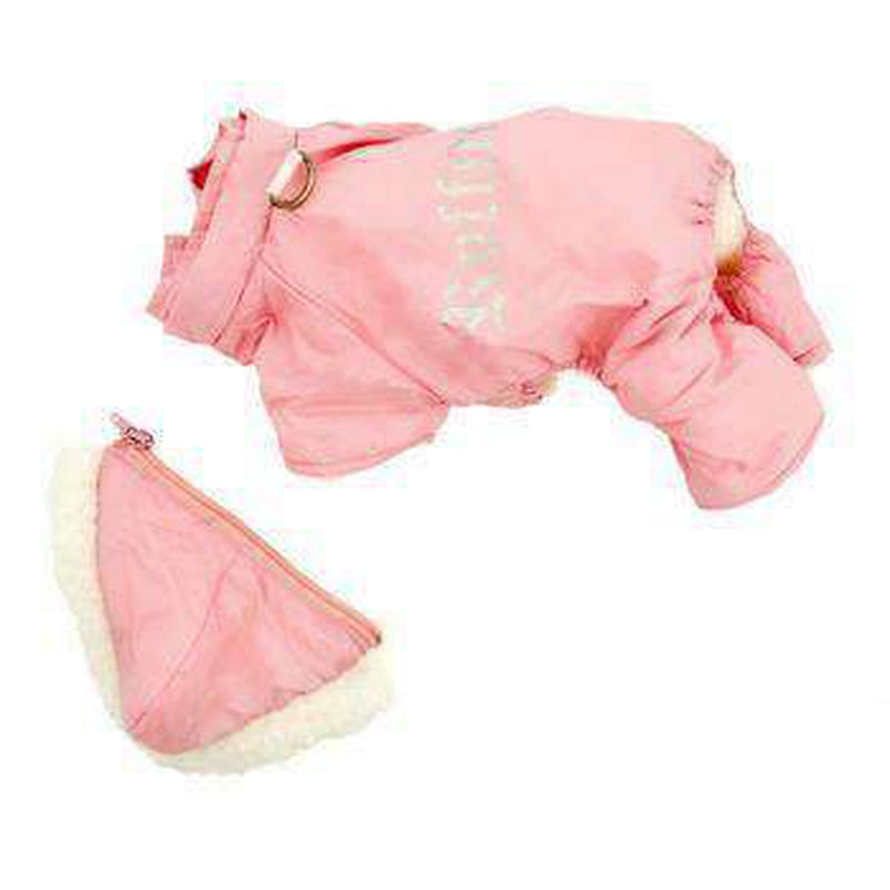 Ruffin It Snowsuit - Pink, Pet Clothes, Furbabeez, [tag]
