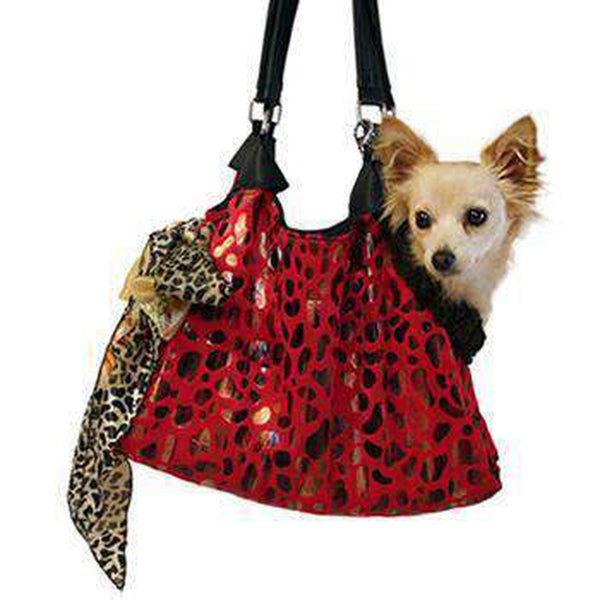 RunAround Dog Tote Carrier - Red, Pet Accessories, Furbabeez, [tag]