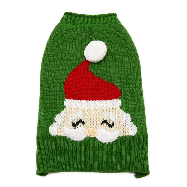 Santa Face Dog Sweater Pet Clothes DOGO