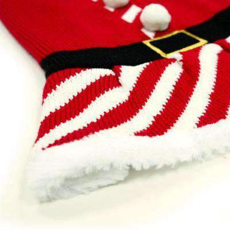 Santa Girl Sweater Dress, Pet Clothes, Furbabeez, [tag]