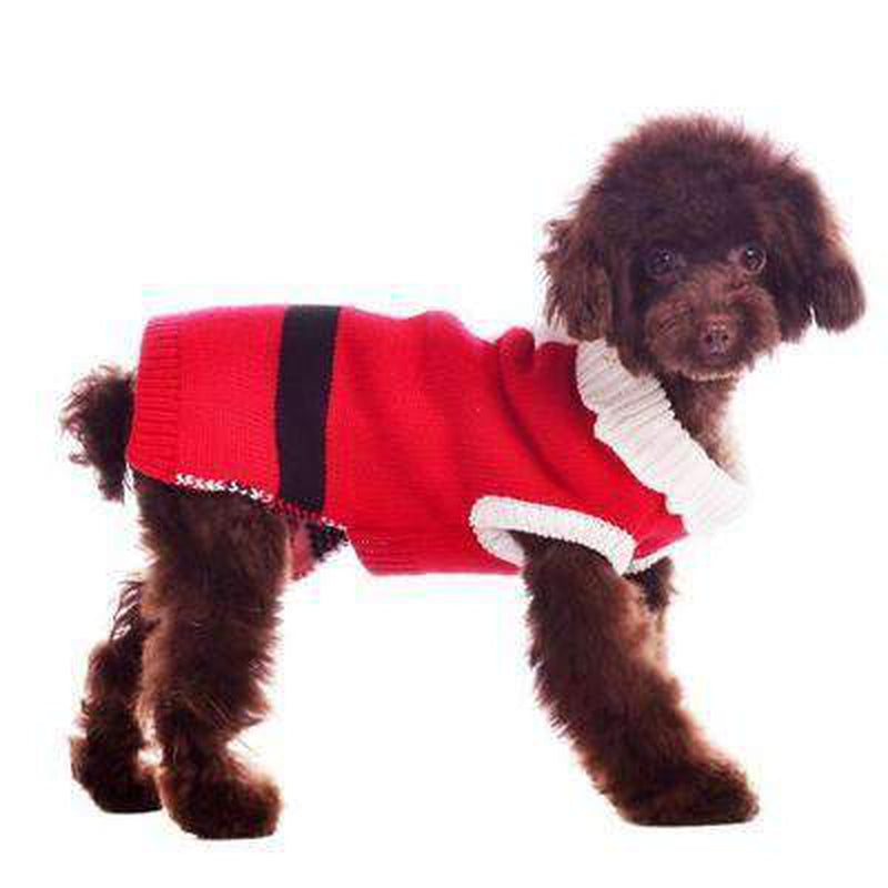 Santa Dog Sweater, Pet Clothes, Furbabeez, [tag]