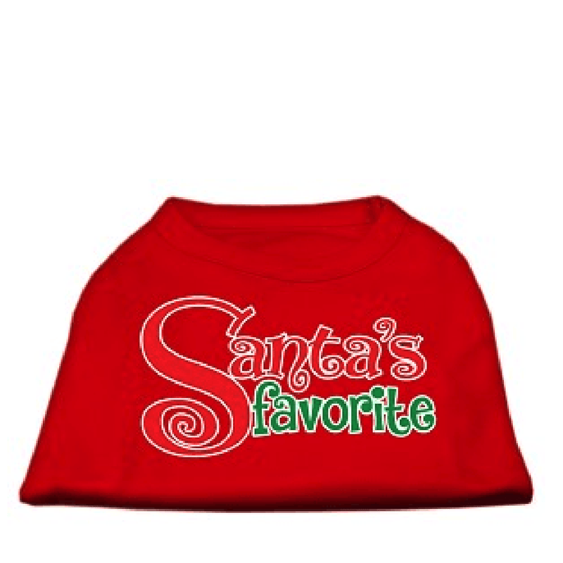 Santa's Favourite Dog T-Shirt, Pet Clothes, Furbabeez, [tag]