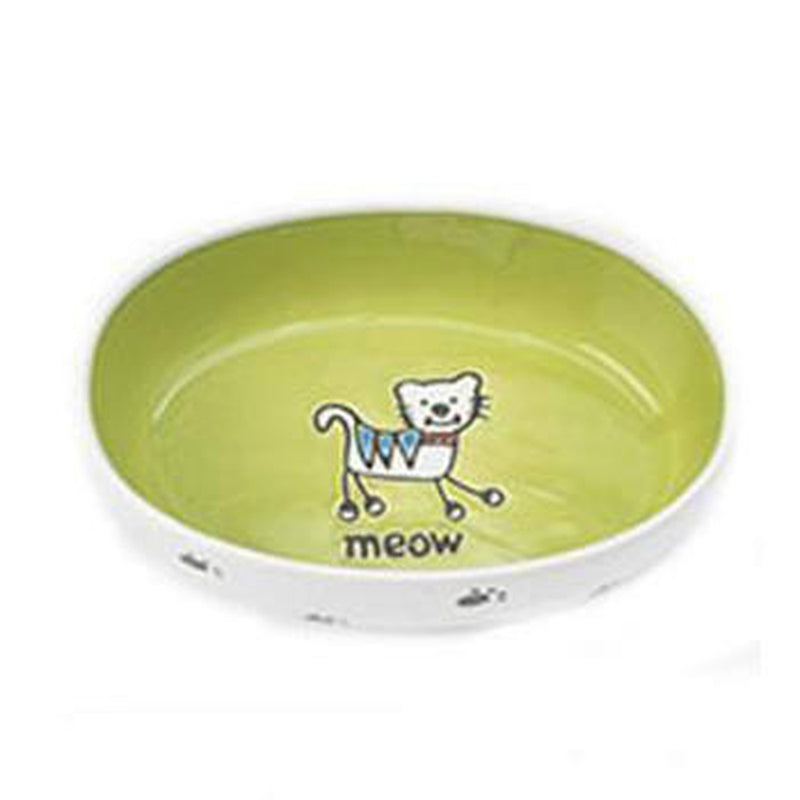 Silly Kitty Oval Cat Bowl, Pet Bowls, Furbabeez, [tag]