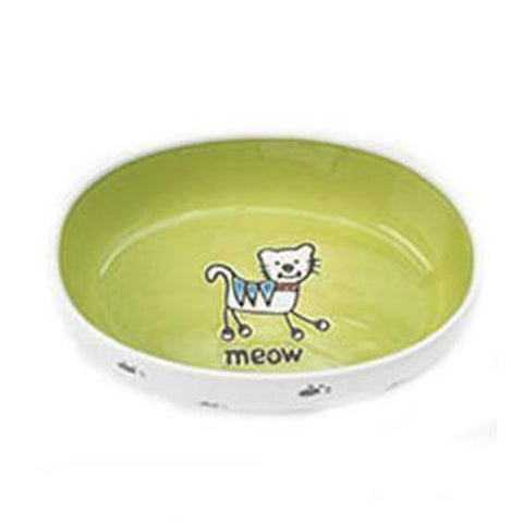 Silly Kitty Oval Cat Bowl, Pet Bowls, Pet Retail Supply, Furbabeez