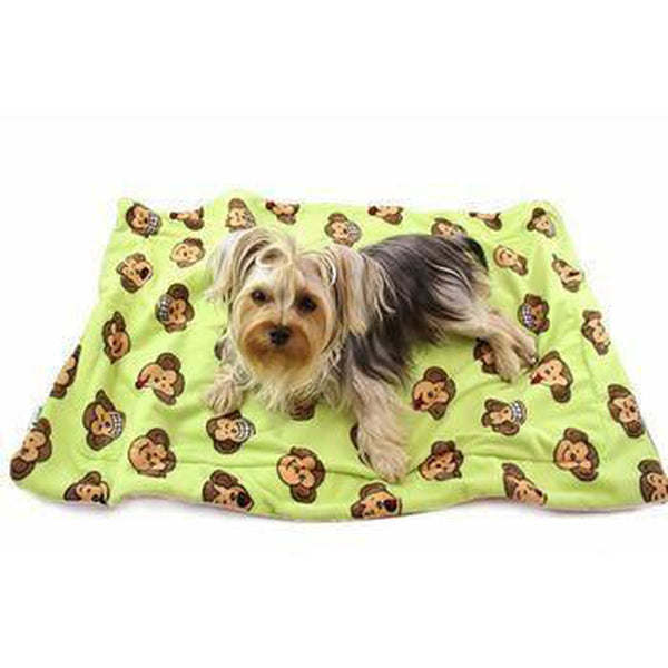 Silly Monkey Ultra-Plush Dog Blanket by Klippo - Lime Pet Bed Klippo