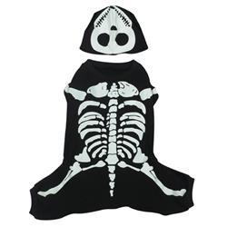 Skeleton Bones Dog Costume Pet Clothes Casual Canine
