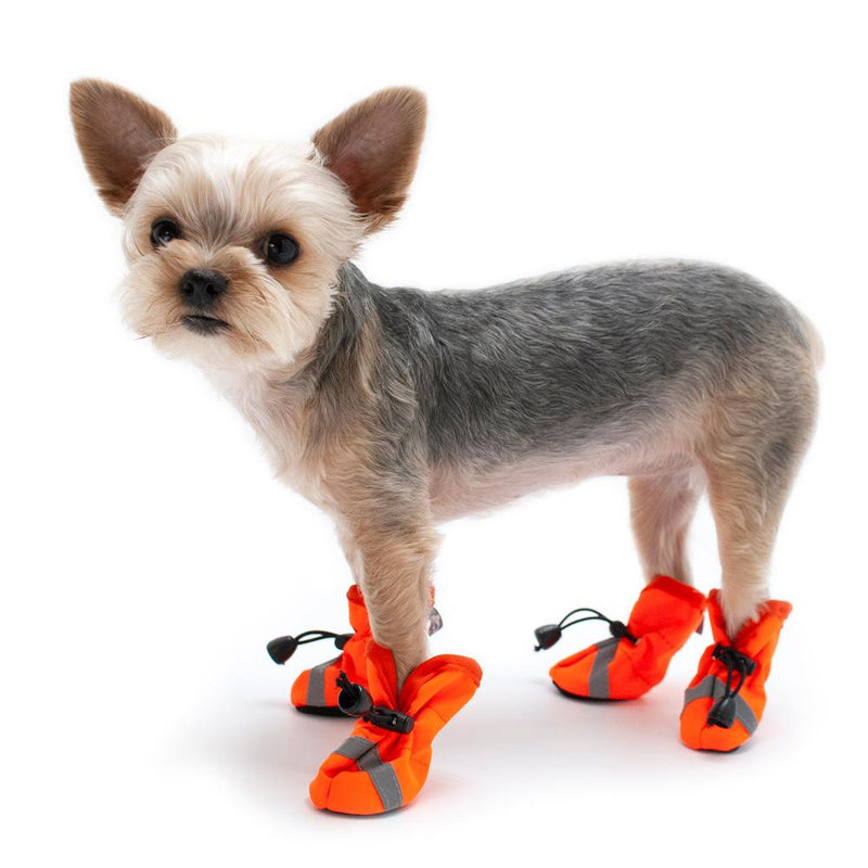 Slip-On Paws Dog Booties by Dogo - Orange, Pet Clothes, Furbabeez, [tag]