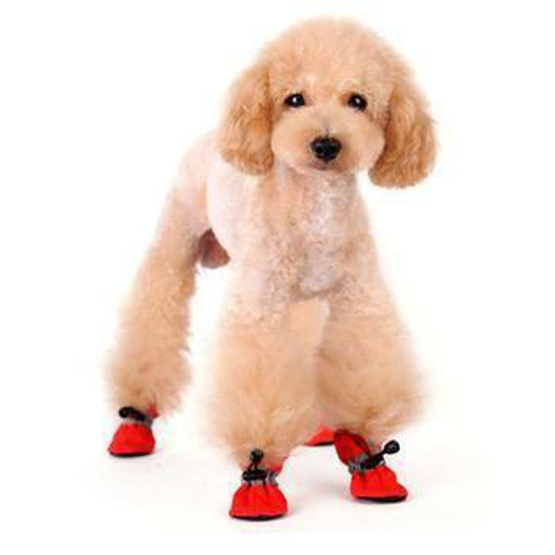 Slip-On Paws Dog Booties by Dogo - Red, Pet Clothes, Furbabeez, [tag]