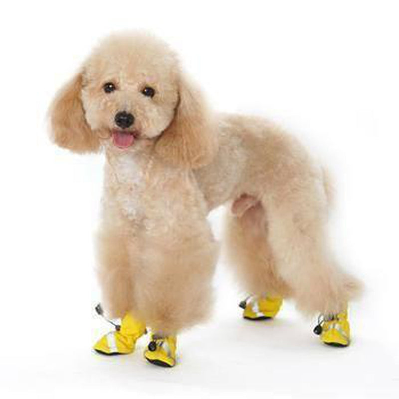 Slip-On Paws Dog Booties by Dogo - Yellow, Pet Clothes, Furbabeez, [tag]