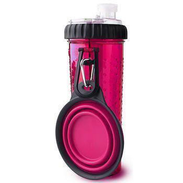 Snack-Duo with Companion Cup - Pink, Pet Bowls, Furbabeez, [tag]