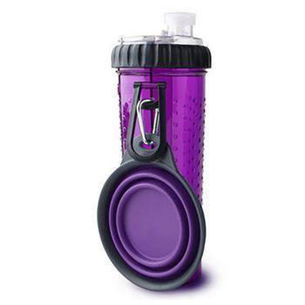 Snack-Duo with Companion Cup - Purple, Pet Bowls, Furbabeez, [tag]
