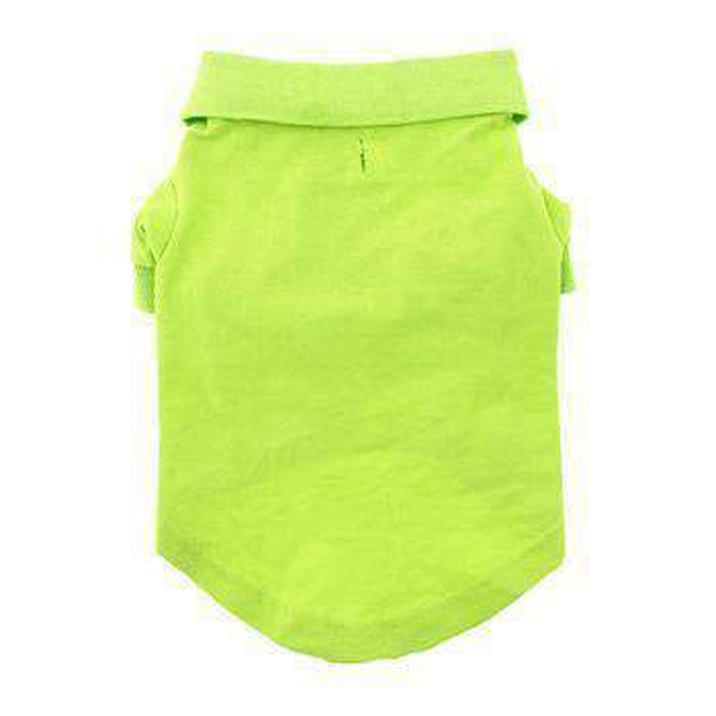 Solid Dog Polo - Green Flash, Pet Clothes, Furbabeez, [tag]