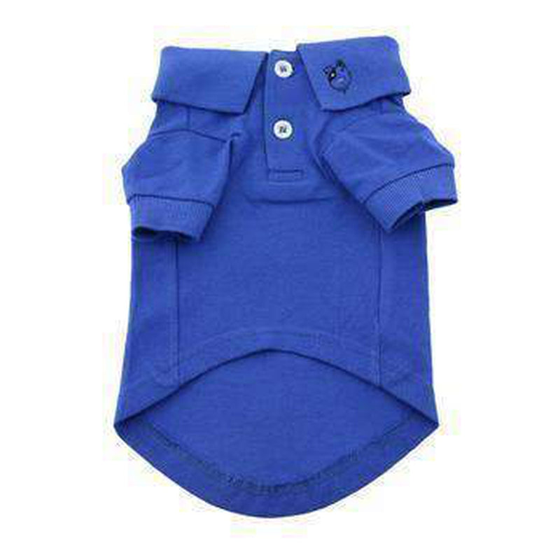 Solid Dog Polo - Nautical Blue, Pet Clothes, Furbabeez, [tag]