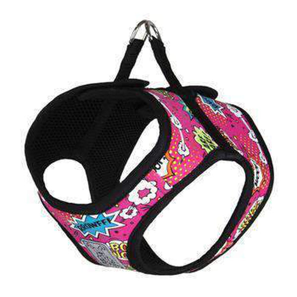 Step-in Cirque Dog Harness - Pink Comic Sounds, Collars and Leads, Furbabeez, [tag]