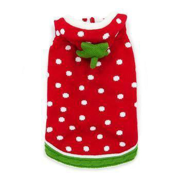 Strawberry Dog Sweater, Pet Clothes, Furbabeez, [tag]