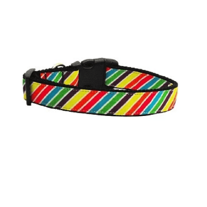 Striped Rainbow Dog Collar & Leash Collars and Leads Mirage