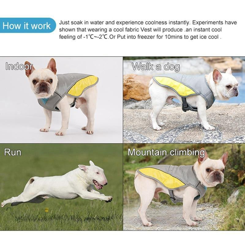 Summer Dog Cooling Harness Vest Pet Clothes Oberlo
