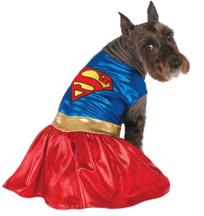 Supergirl Dog Halloween Costume Pet Clothes Rubie's Costumes