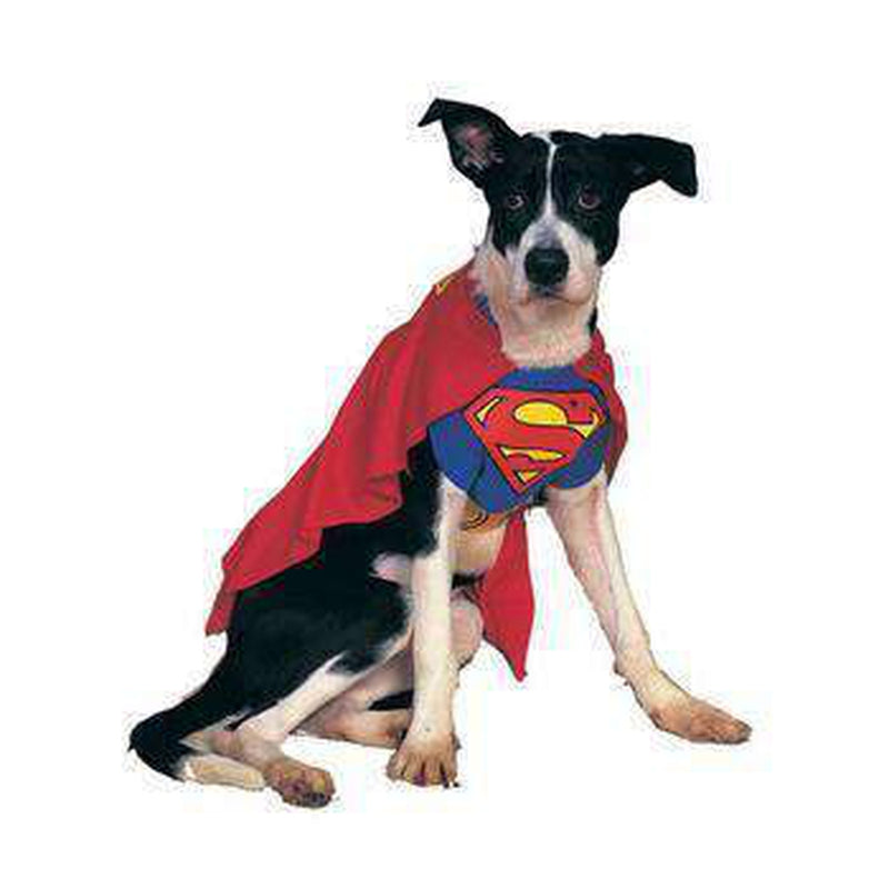 Superman Dog Halloween Costume Pet Clothes Rubie's Costumes