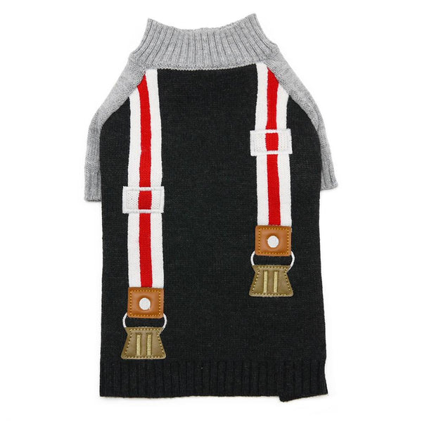 Suspender Dog Sweater, Pet Clothes, Furbabeez, [tag]