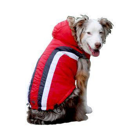 Swiss Alpine Ski Dog Vest by Hip Doggie - Red