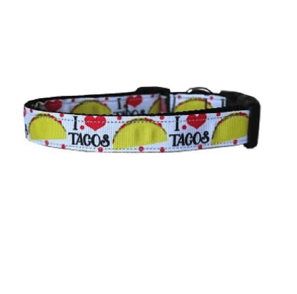 Taco Tuesday Dog Collar & Leash Collars and Leads Mirage Cat Collar
