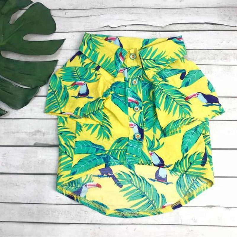 Toucan Hawaiian Dog Shirt Pet Clothes Oberlo S