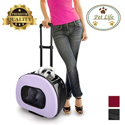 Tough-Shell Wheeled Collapsible Pet Carrier Pet Accessories Pet Life