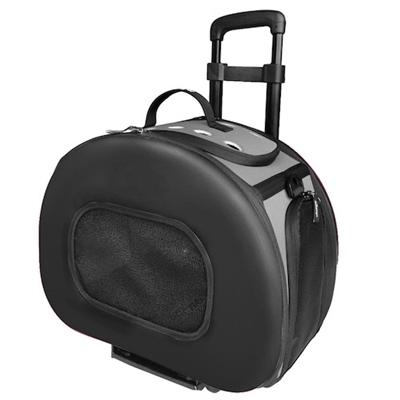 Tough-Shell Wheeled Collapsible Pet Carrier Pet Accessories Pet Life Black