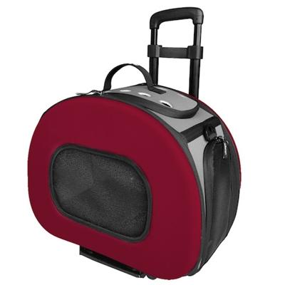 Tough-Shell Wheeled Collapsible Pet Carrier Pet Accessories Pet Life Red