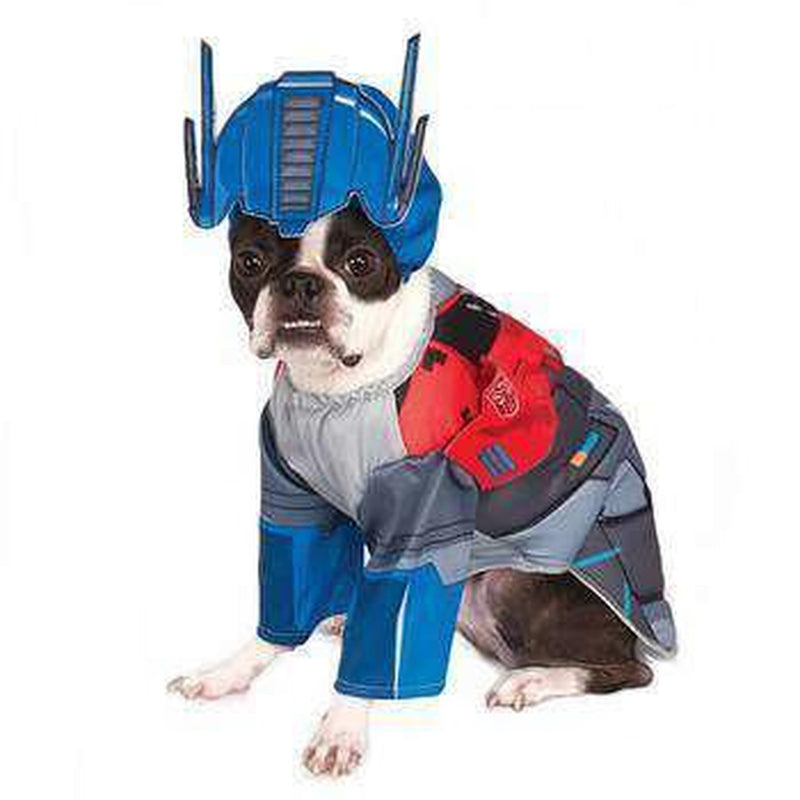 Transformers Deluxe Optimus Prime Halloween Dog Costume Pet Clothes Rubie's Costumes