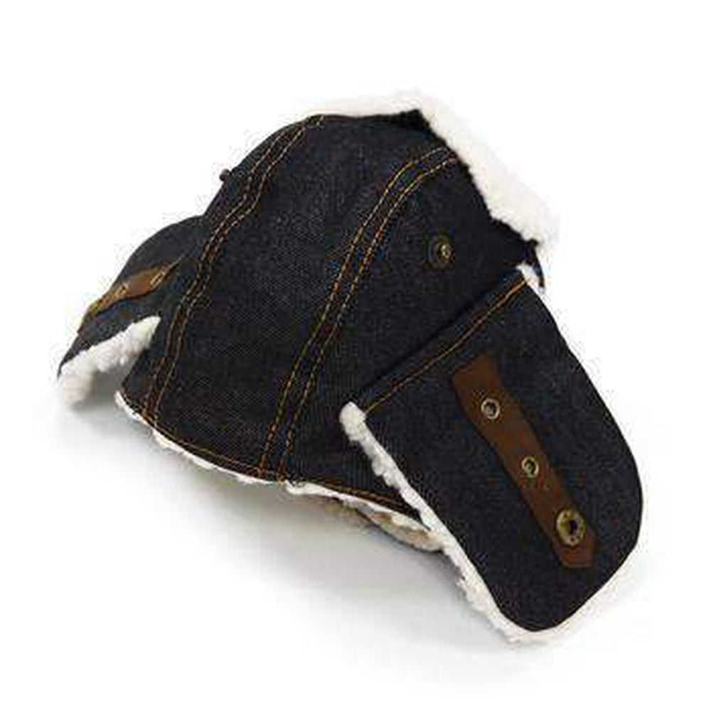 Trapper Dog Hat - Black Denim Pet Accessories DOGO