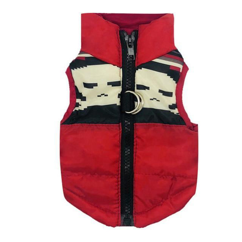 Trendy Dog Zipped Puffer Vest Pet Clothes Oberlo Red XS