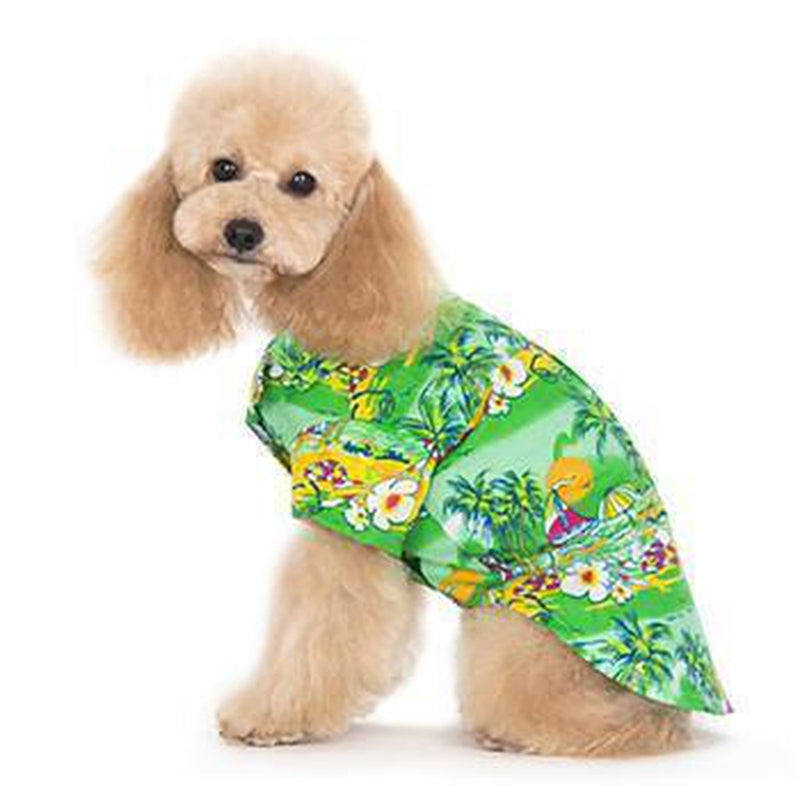 Tropical Island Dog Shirt by Dogo - Green, Pet Clothes, Furbabeez, [tag]
