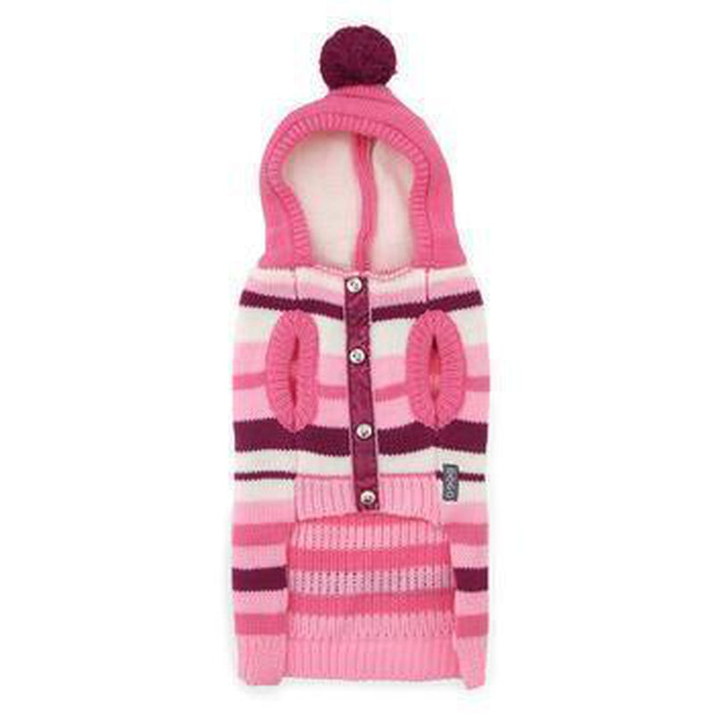 Uneven Stripes Sweater Dog Hoodie - Pink, Pet Clothes, Furbabeez, [tag]