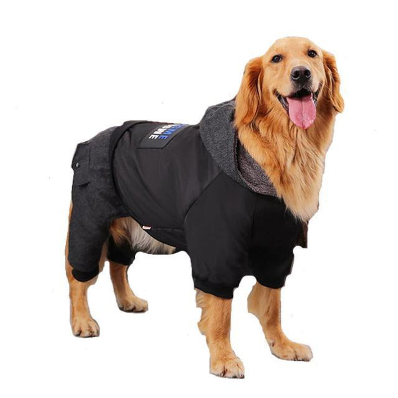 Weasome Big Dog Snowsuit Pet Clothes Oberlo Black 7XL