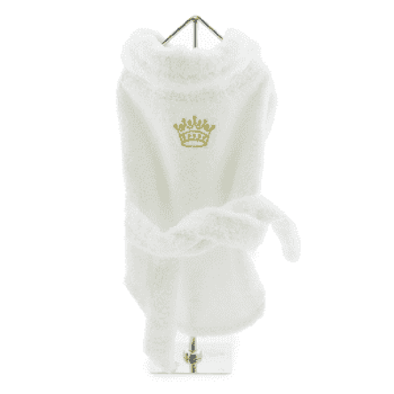 White Gold Crown Cotton Dog Bathrobe, Pet Bed, Furbabeez, [tag]
