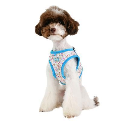 Wildflower Harness - Step-In Collars and Leads Puppia Turquoise Small