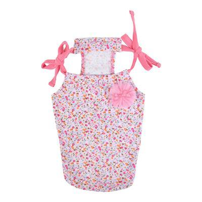 Wildflower Tank Top Pet Clothes Puppia Pink Small