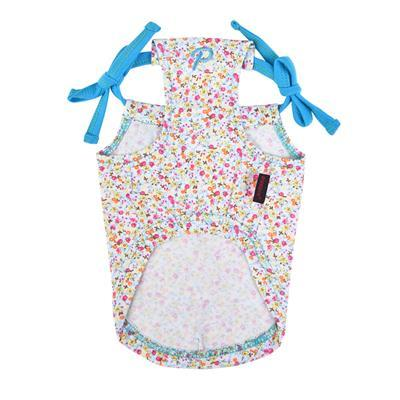 Wildflower Tank Top Pet Clothes Puppia Turquoise Small