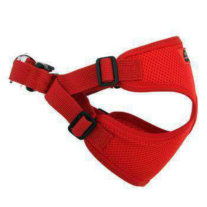 Wrap and Snap Choke Free Dog Harness - Flame Red Collars and Leads Doggie Design