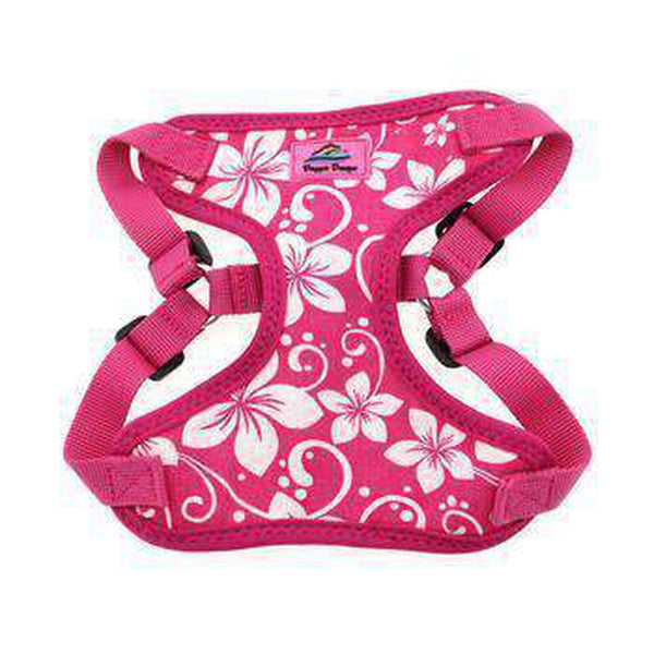 Wrap and Snap Choke Free Dog Harness - Pink Hibiscus Collars and Leads Doggie Design