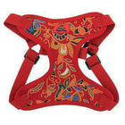 Wrap and Snap Choke Free Dog Harness - Tahiti Red Collars and Leads Doggie Design